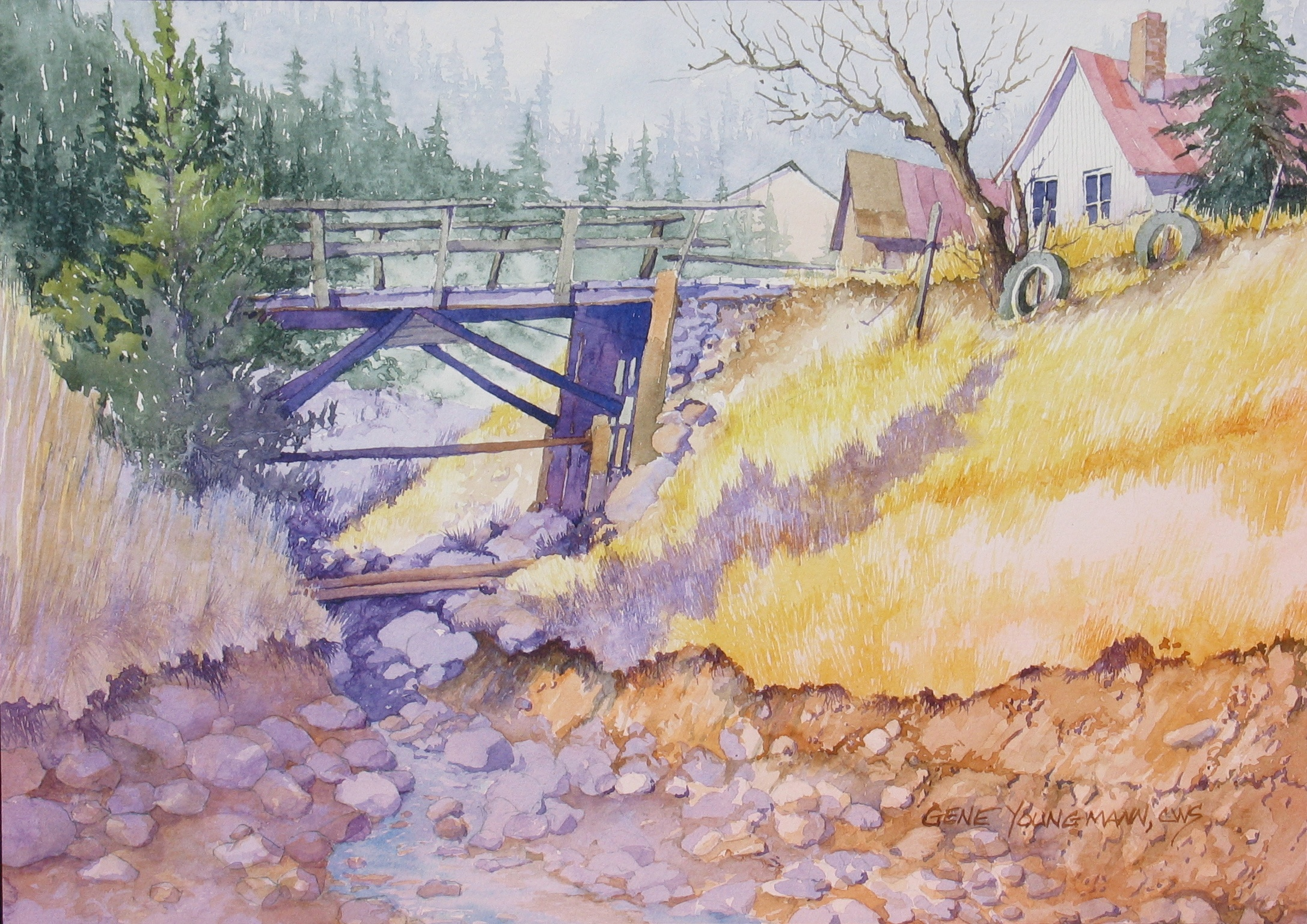 Painting #23 Gregory Gulch Bridge