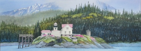 Painting #31 Lynn Canal Lighthouse