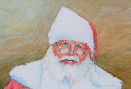 Painting #37 Santa