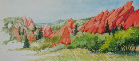 Painting #39 Fountain Formation at Roxborough Park