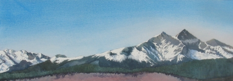 Painting #41 Long Peaks View