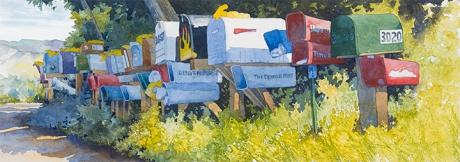 Painting #45 Postal Network
