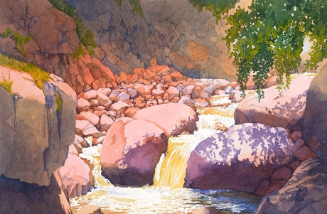 Painting #50 Between the Boulders