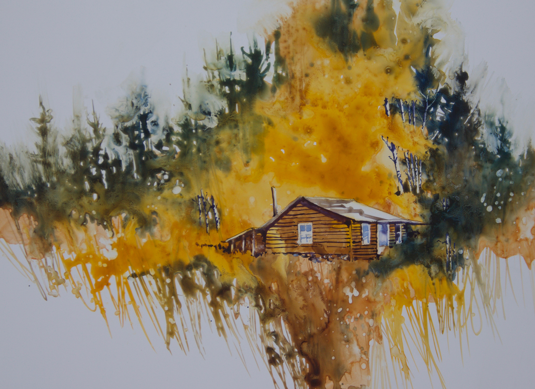 Painting #57 Autumn Cabin
