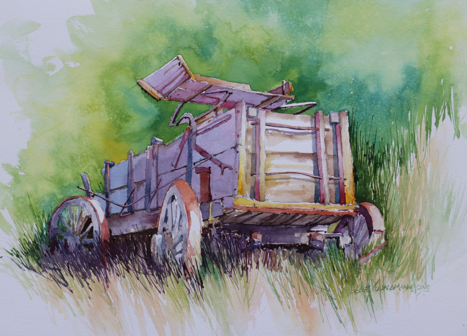 Painting #86 - Before Pickup Trucks