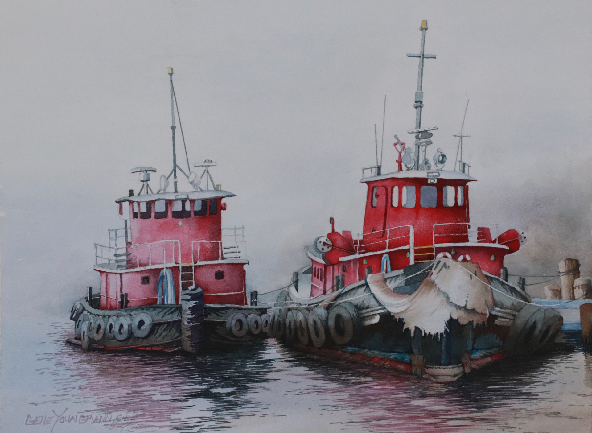 Painting #88 - Tug-gether