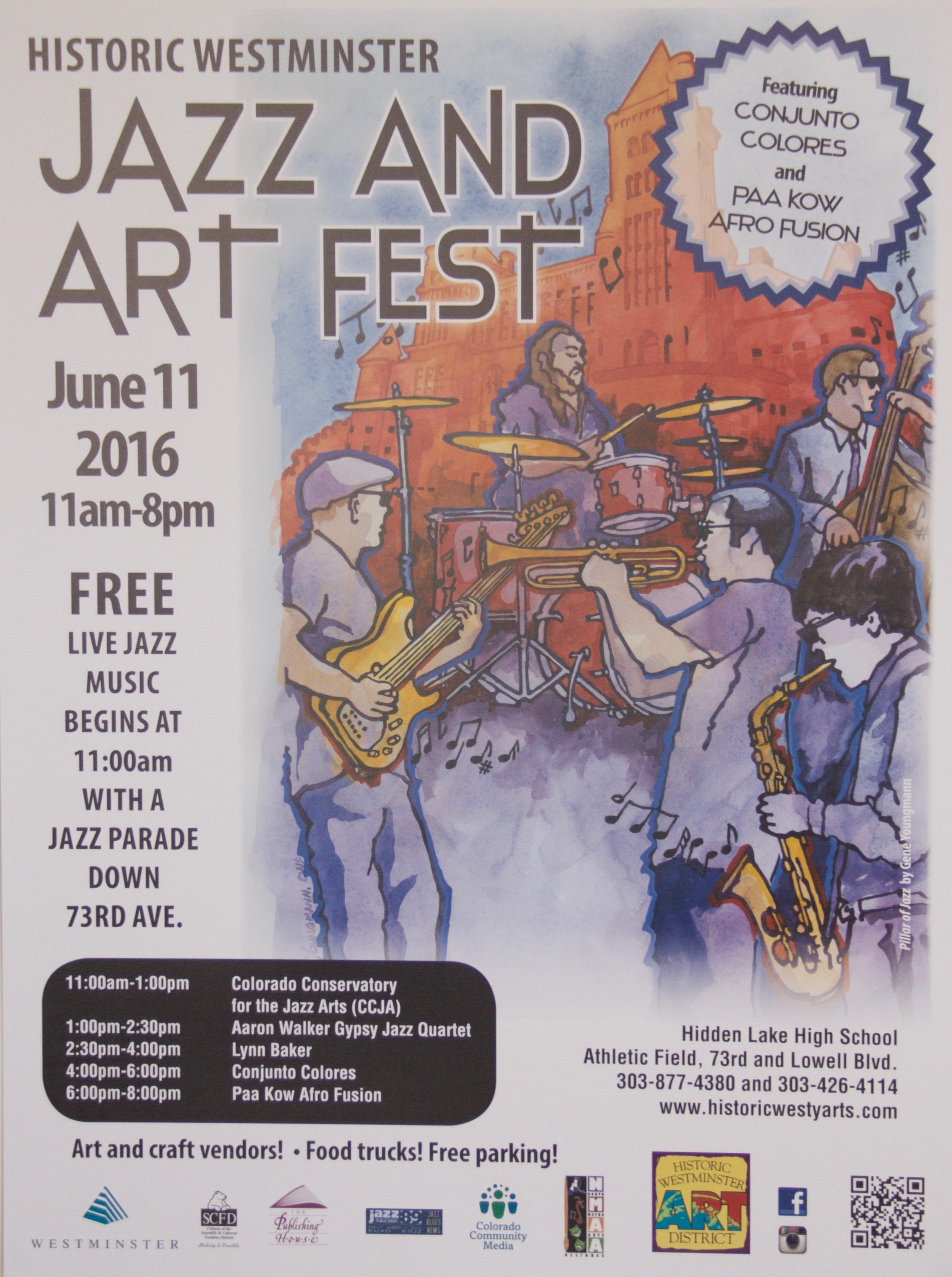 2016 Jazz & Art Fest Poster