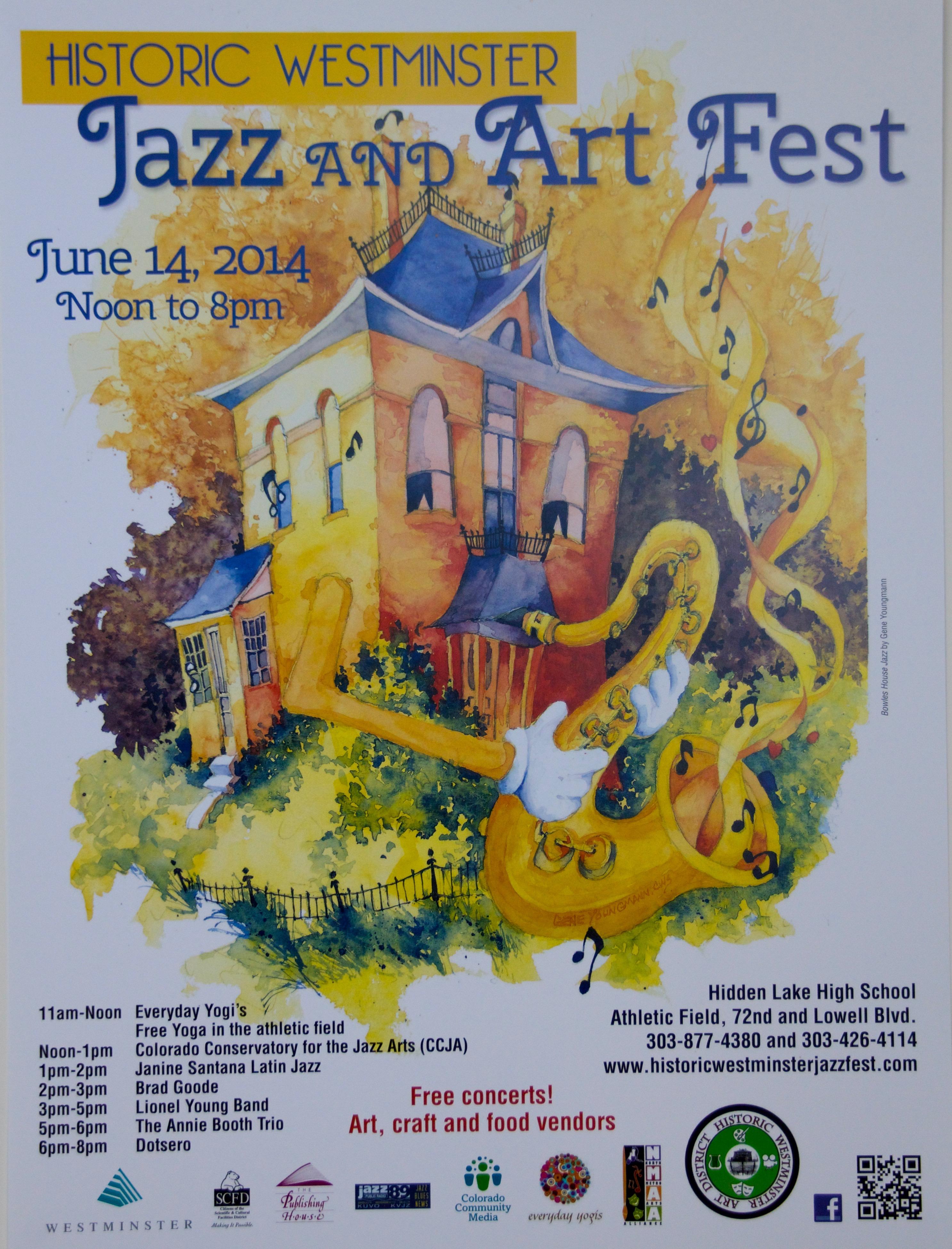 2014 Jazz & Art Fest Poster