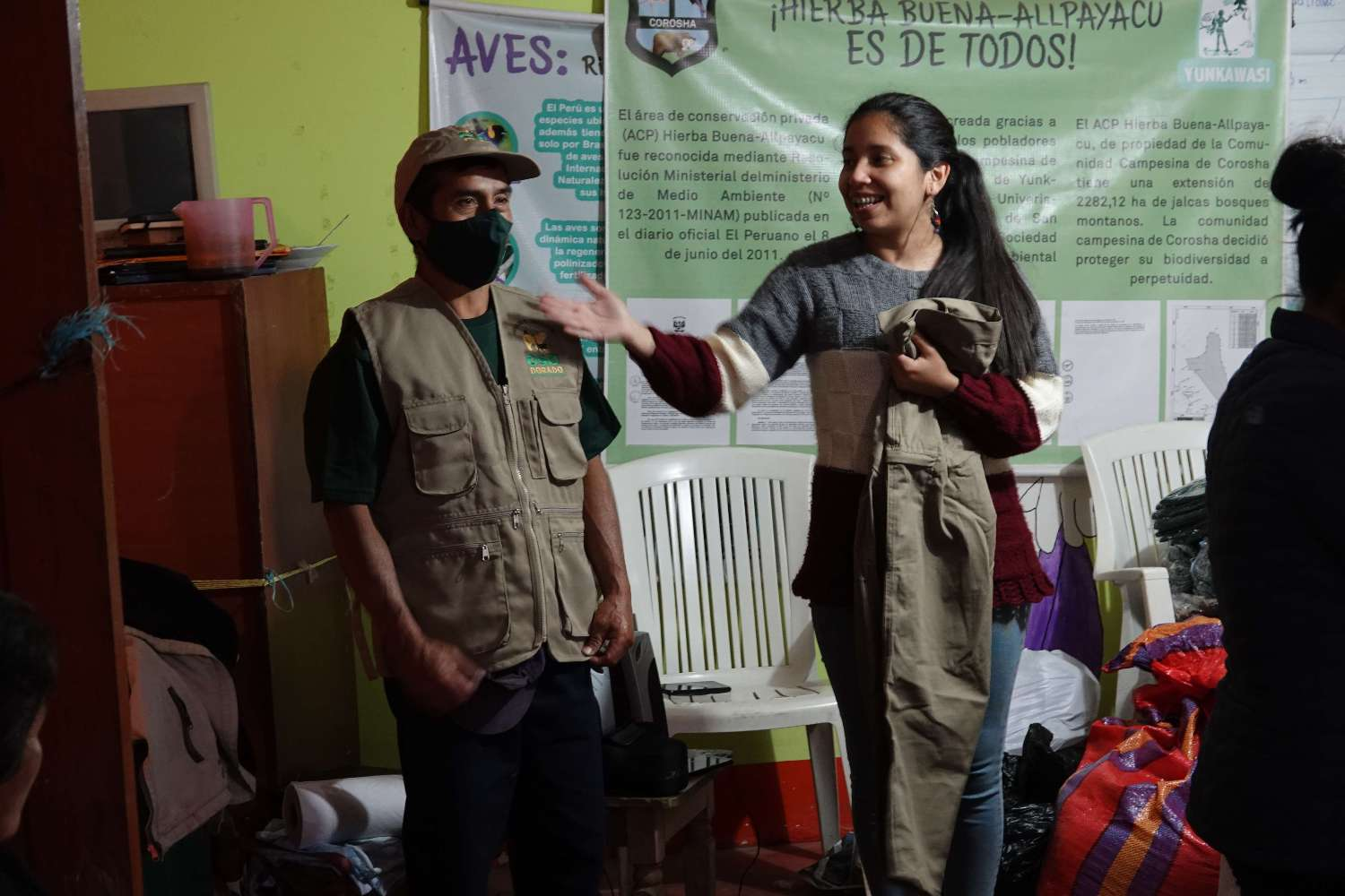 Consolidation of the Oso Dorado (Golden Bear) Tourism Association in Corosha into an alliance for conservation and management of the Amazonas region of Peru