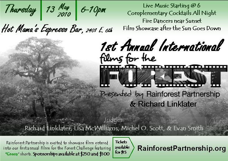 Films for the forest event poster.