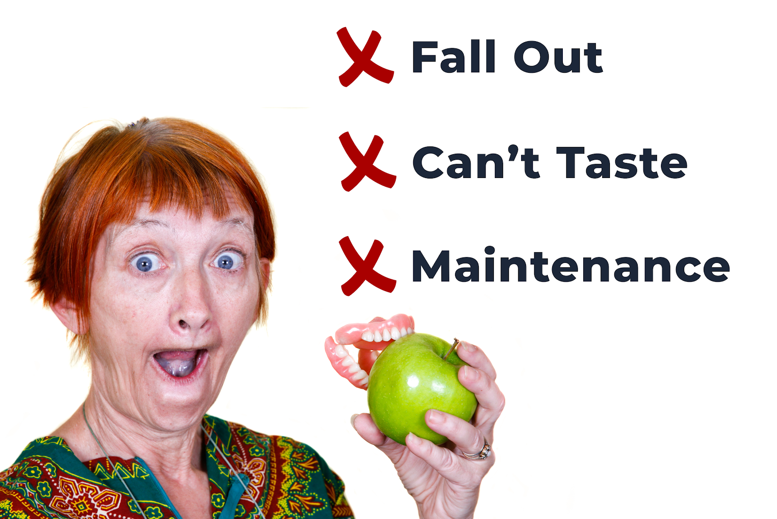 Why Dentures are worse than Dental Implants