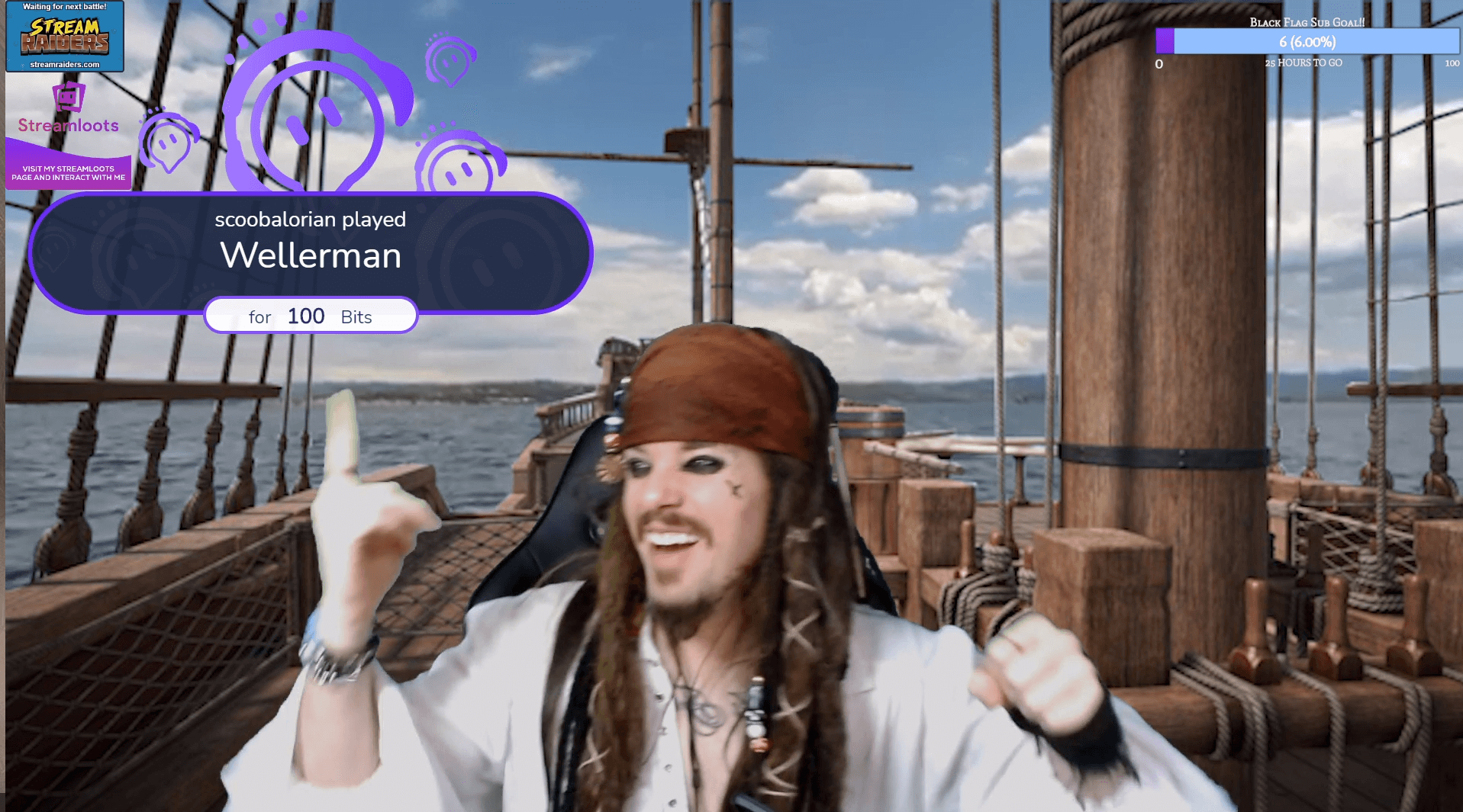 Captain Jack Spoopy in full Jack Sparrow Cosplay