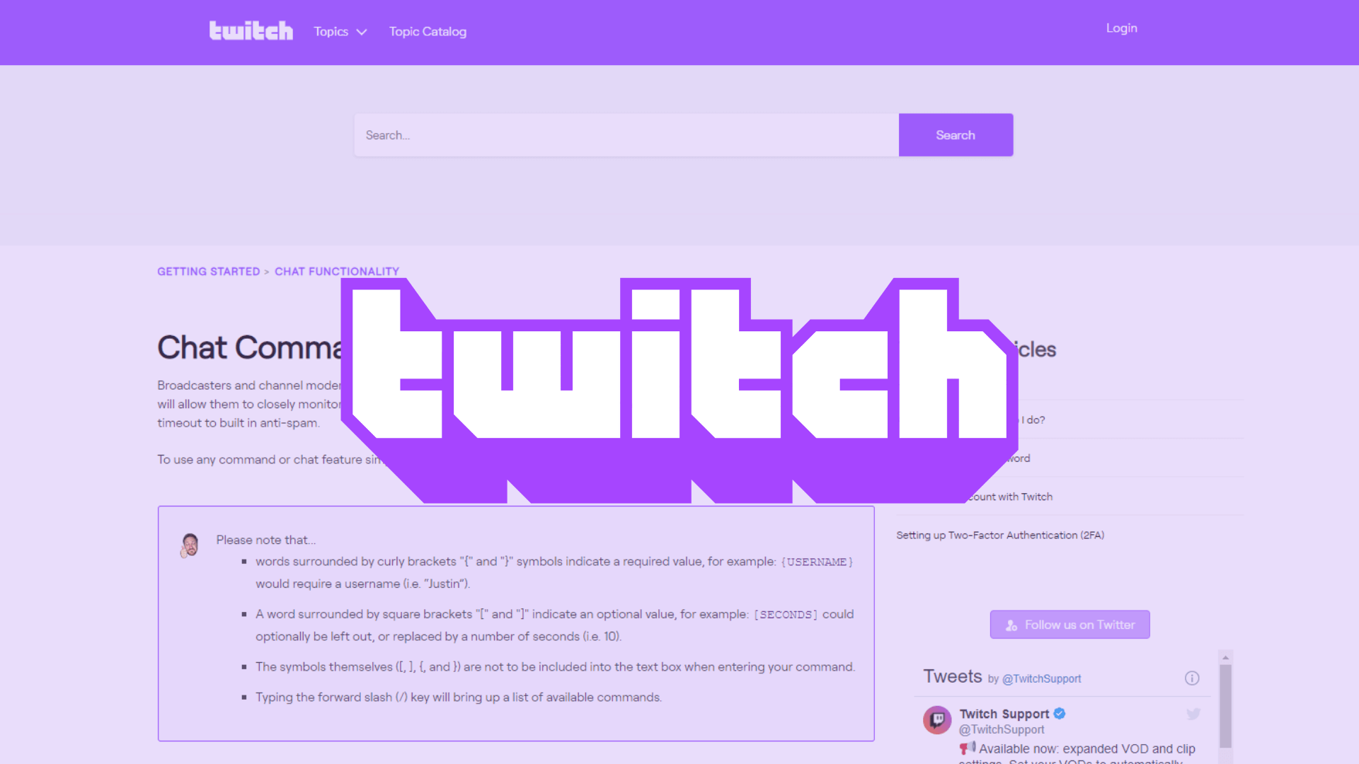 Illustration for Twitch Mod Commands