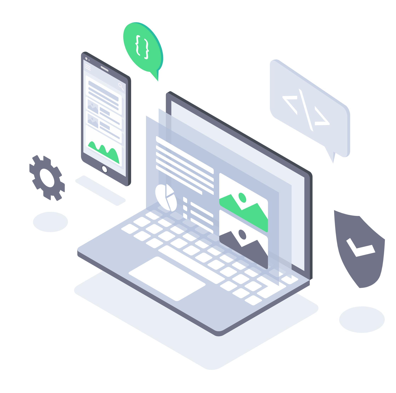 Desktop and Mobile illustration