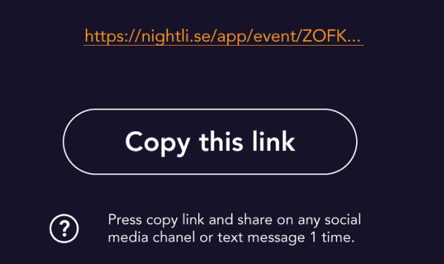 nightli business send invites