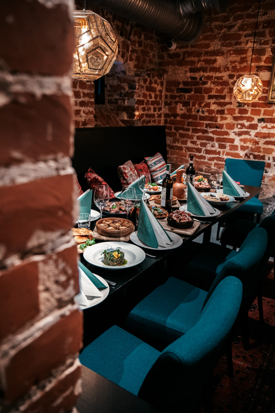 """delicious food and excellent wine at the restaurant """"Georgian Kitchen"""