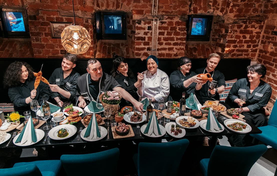 Georgian Kitchen restaurant team in Helsinki