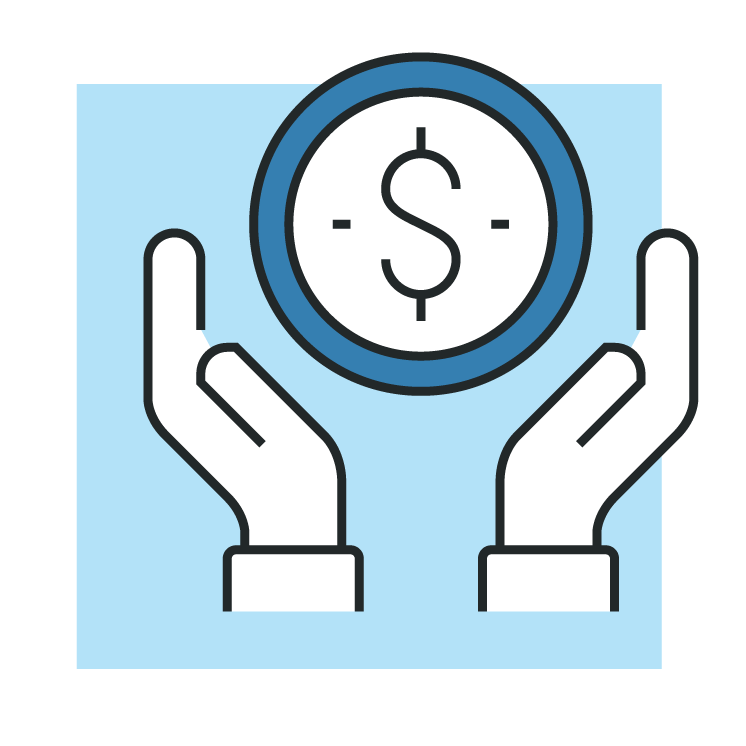 Money and hands icon
