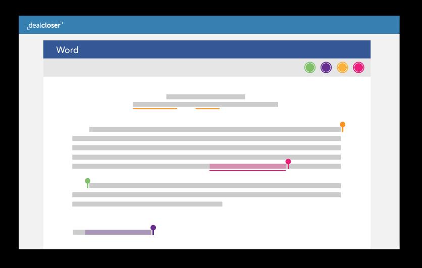 Microsoft Word Online dealcloser integration screen