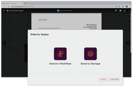 screen shot of Vasion capture product