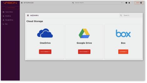 screen shot of Vasion Storage product