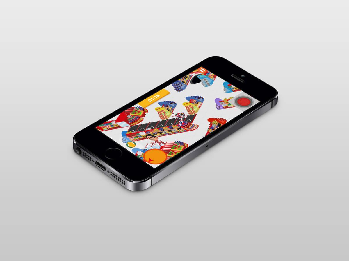Gamification application mobile - Advergame et publicité pour une marque