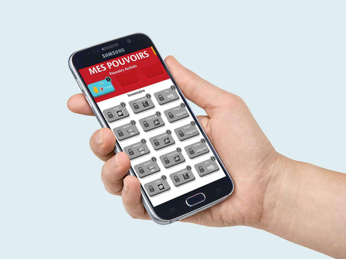 Développement image de marque application mobile et mini-jeu