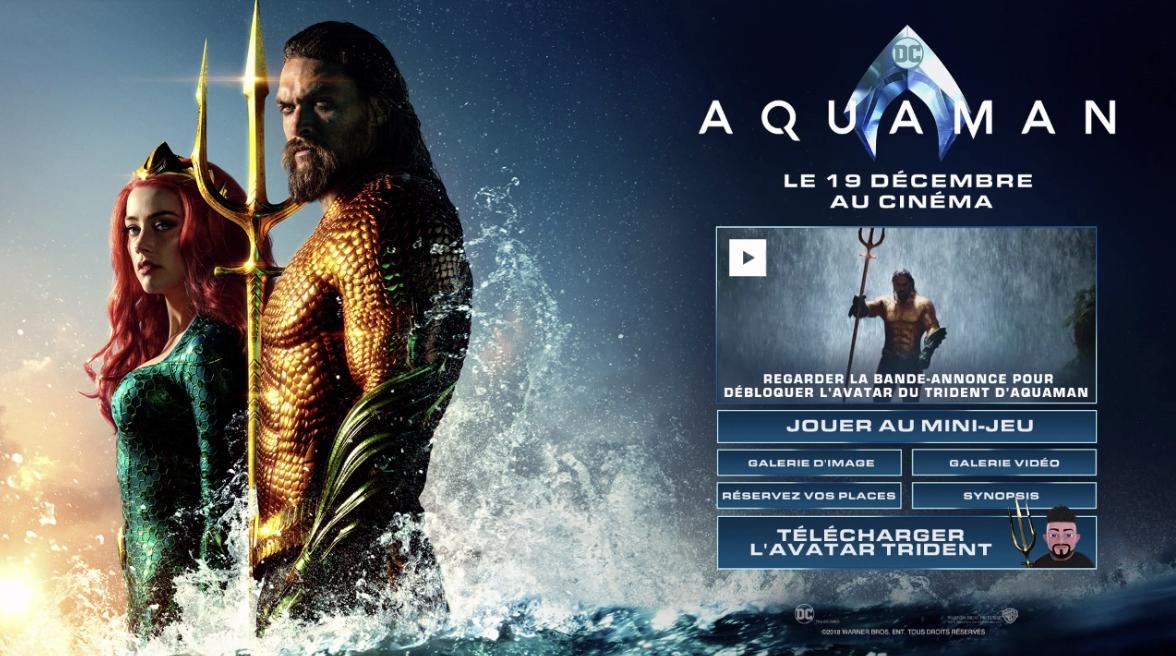 Aquaman - Jeu activation lancement film