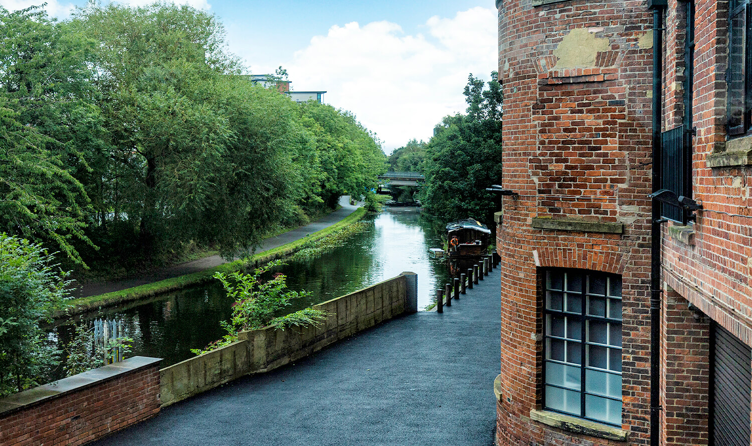View of the Leeds Liverpool canal from Castleton Mill
