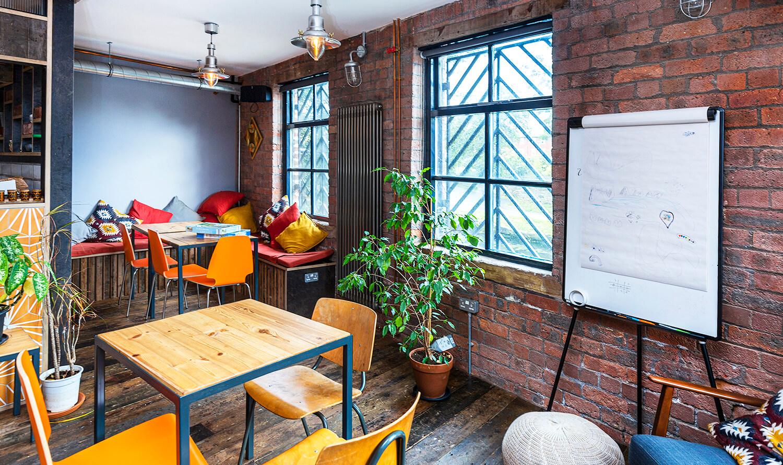 Inside the cafe bar at Castleton Mill