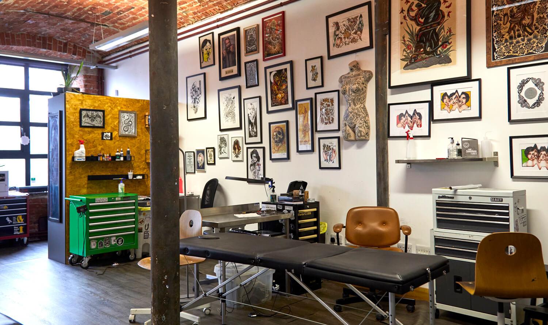 Tattoo studio space at Castleton Mill