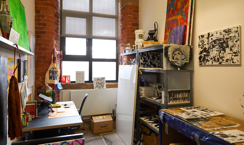 Art studio space at Castleton Mill
