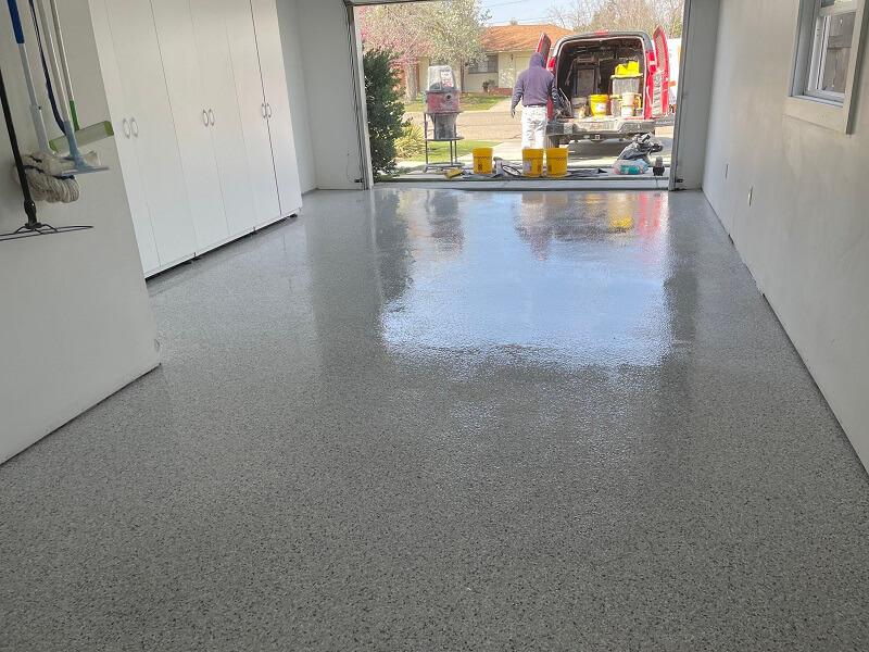 Single car garage flooring