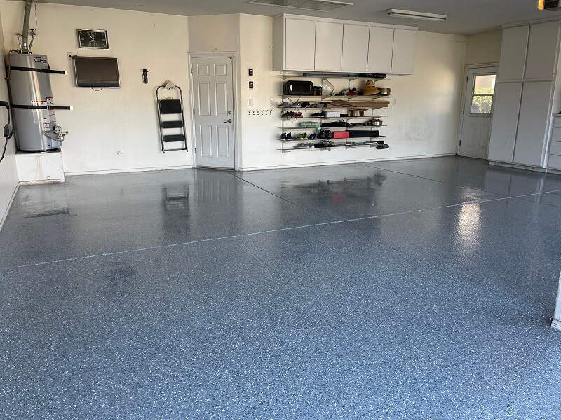 Double car garage flooring