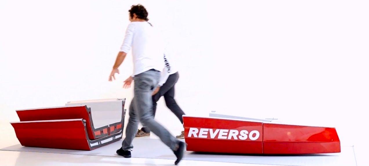 Dériveur pliable Reverso Air Karma Red en cours de montage
