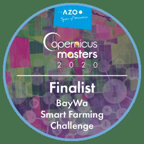 Finalist badge of the Copernicus Masters BayWa Smart Farming challenge