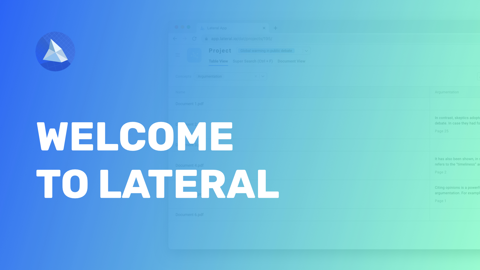 Welcome to Lateral! - Getting Started
