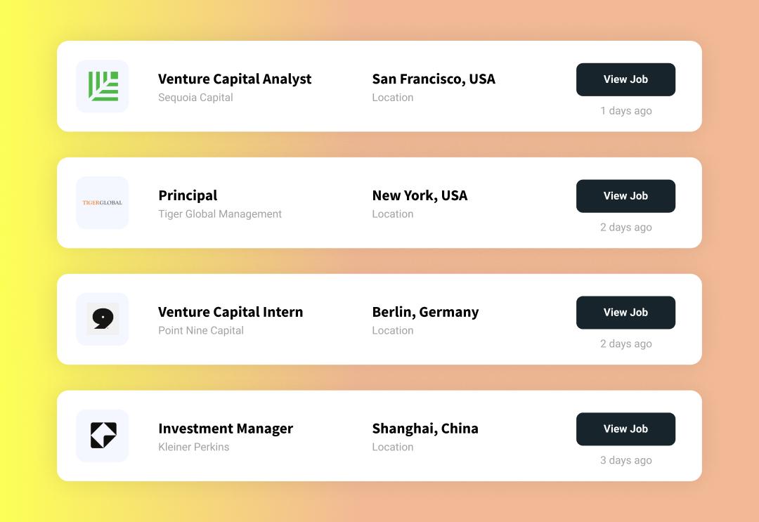 Venture Capital Jobs in your city