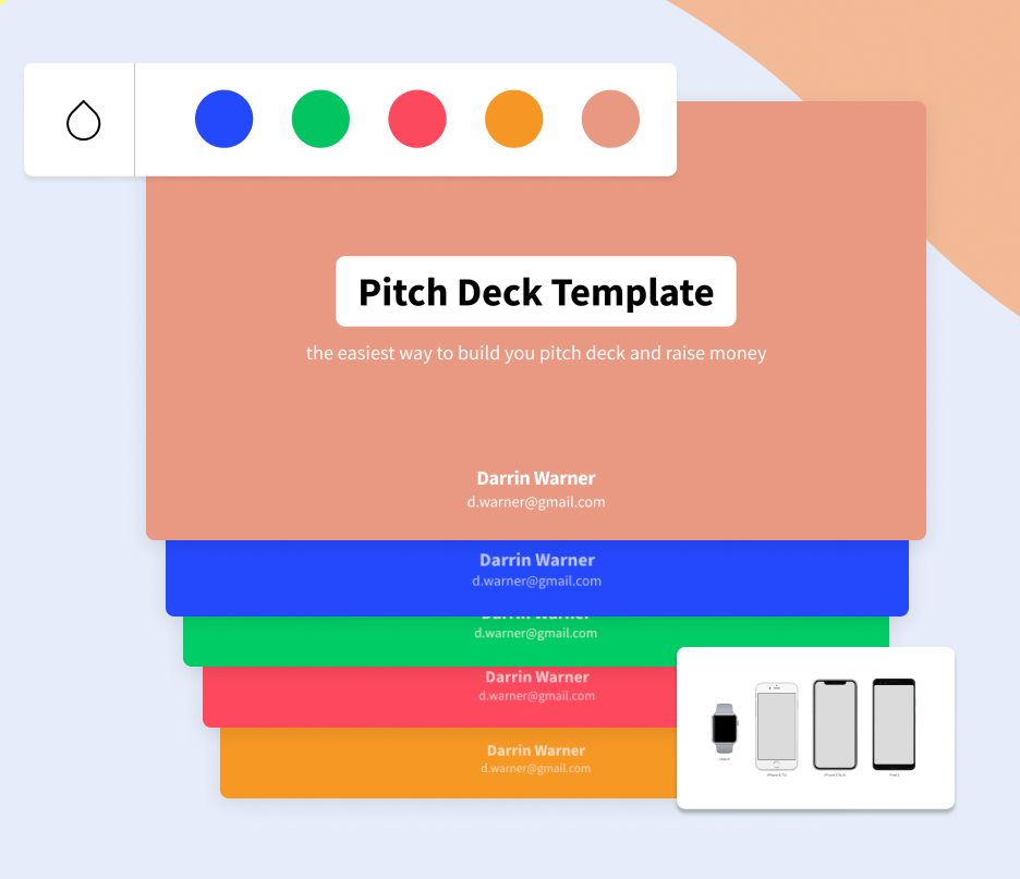 Pitch Deck Template Color Options