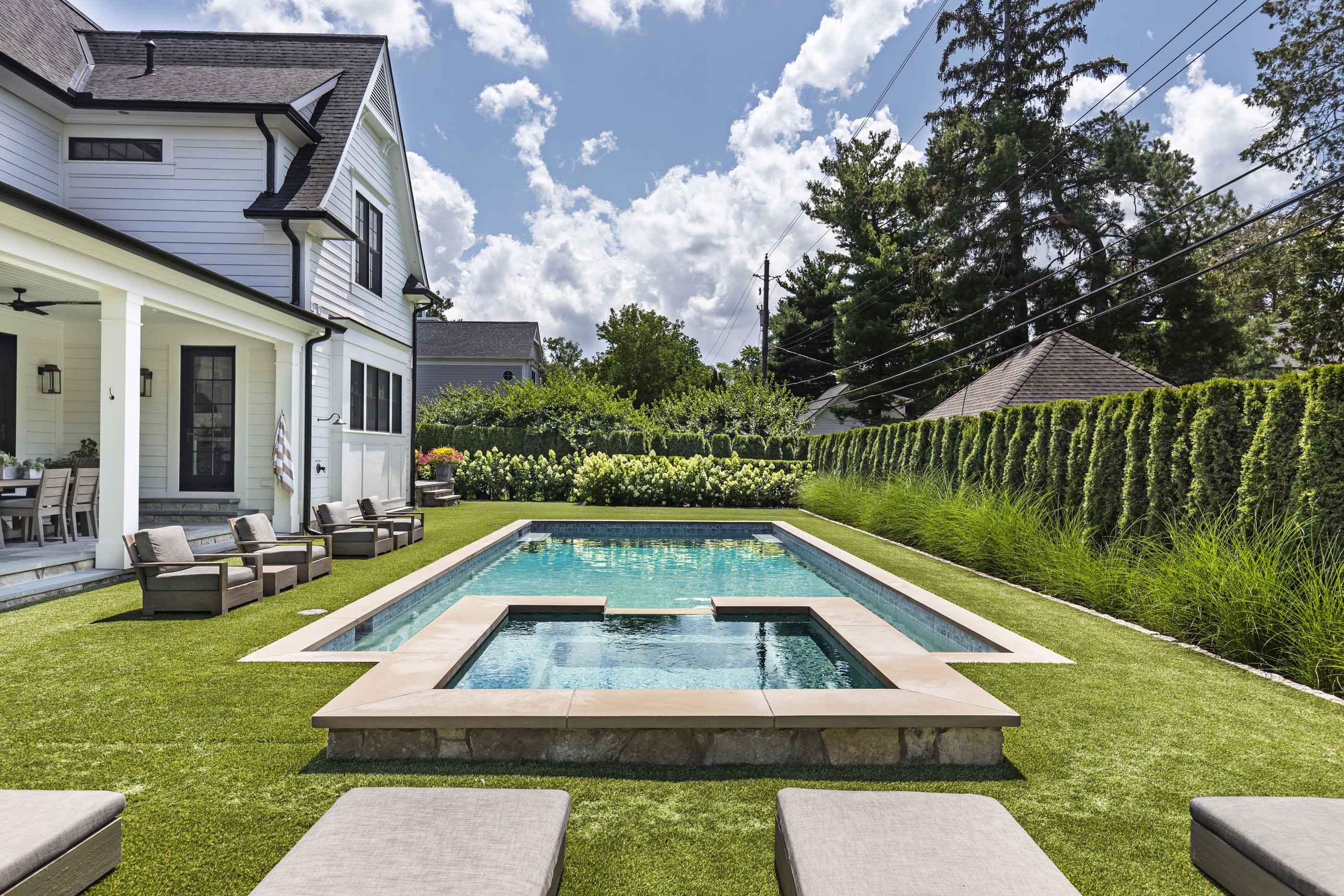 Larchlea pool and backyard