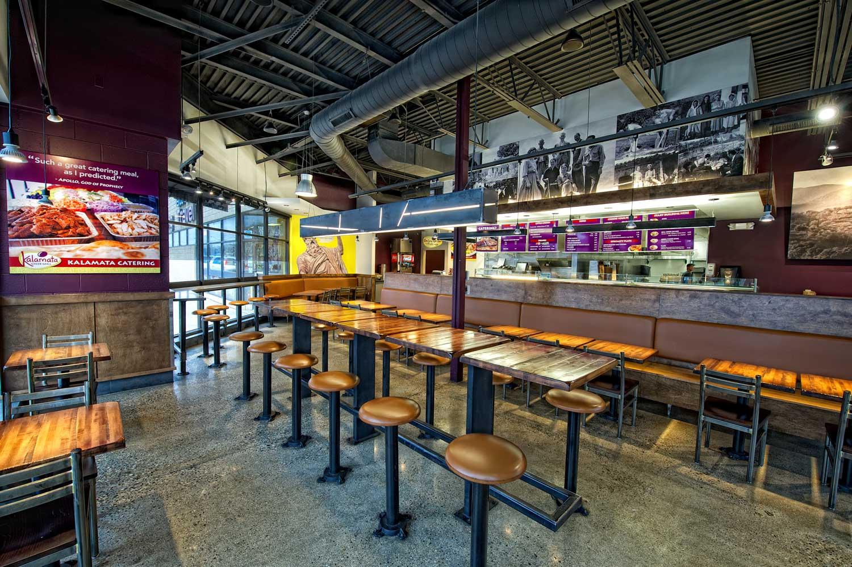 Kalamata Greek Grill booths and tables