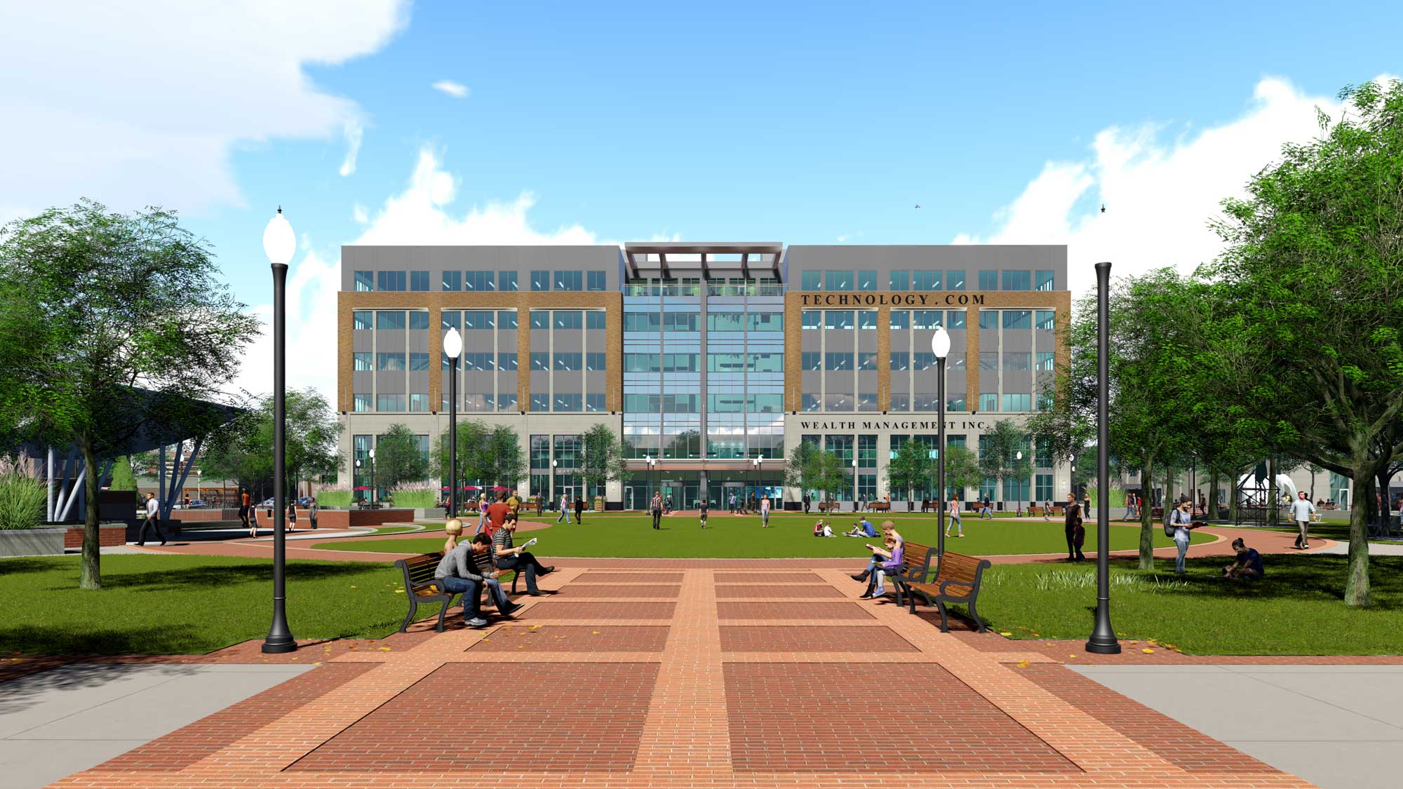 Royal Oak City Center complex exterior rendering