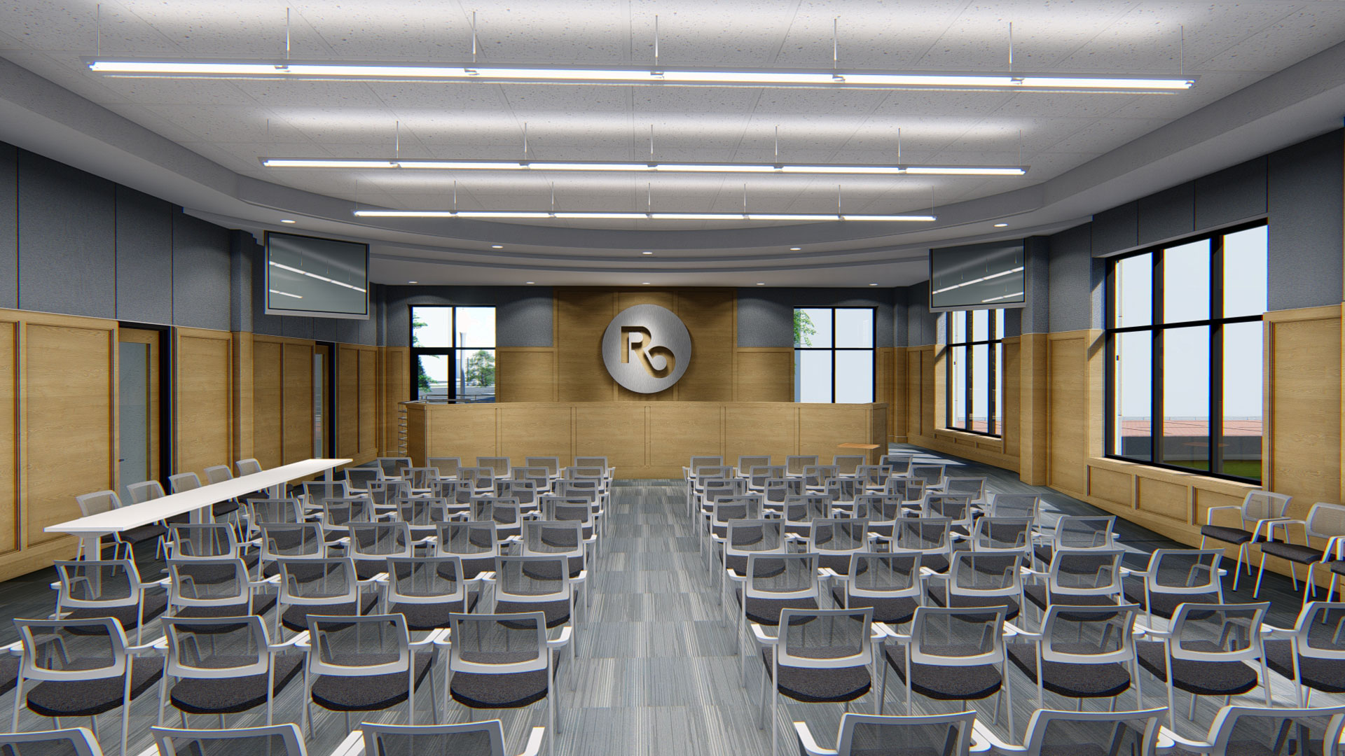 Royal Oak City Hall conference room interior rendering