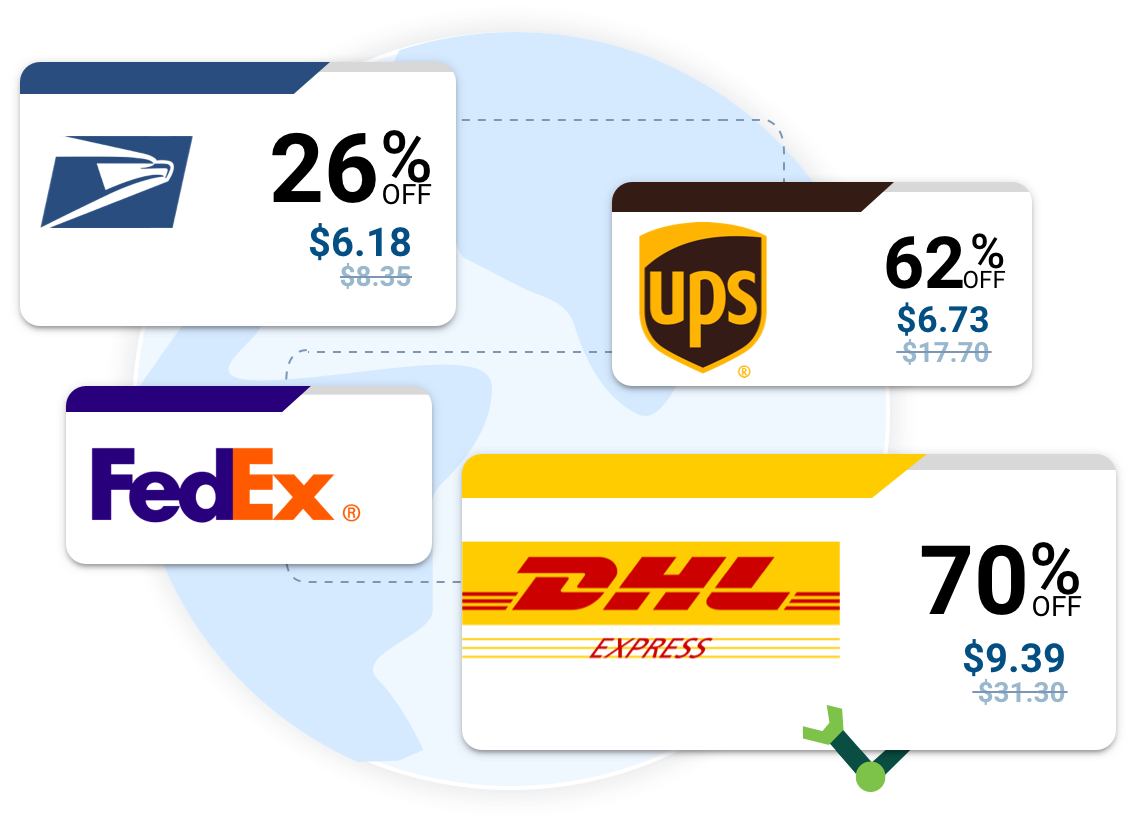 Discounted shipping labels up to 90% off