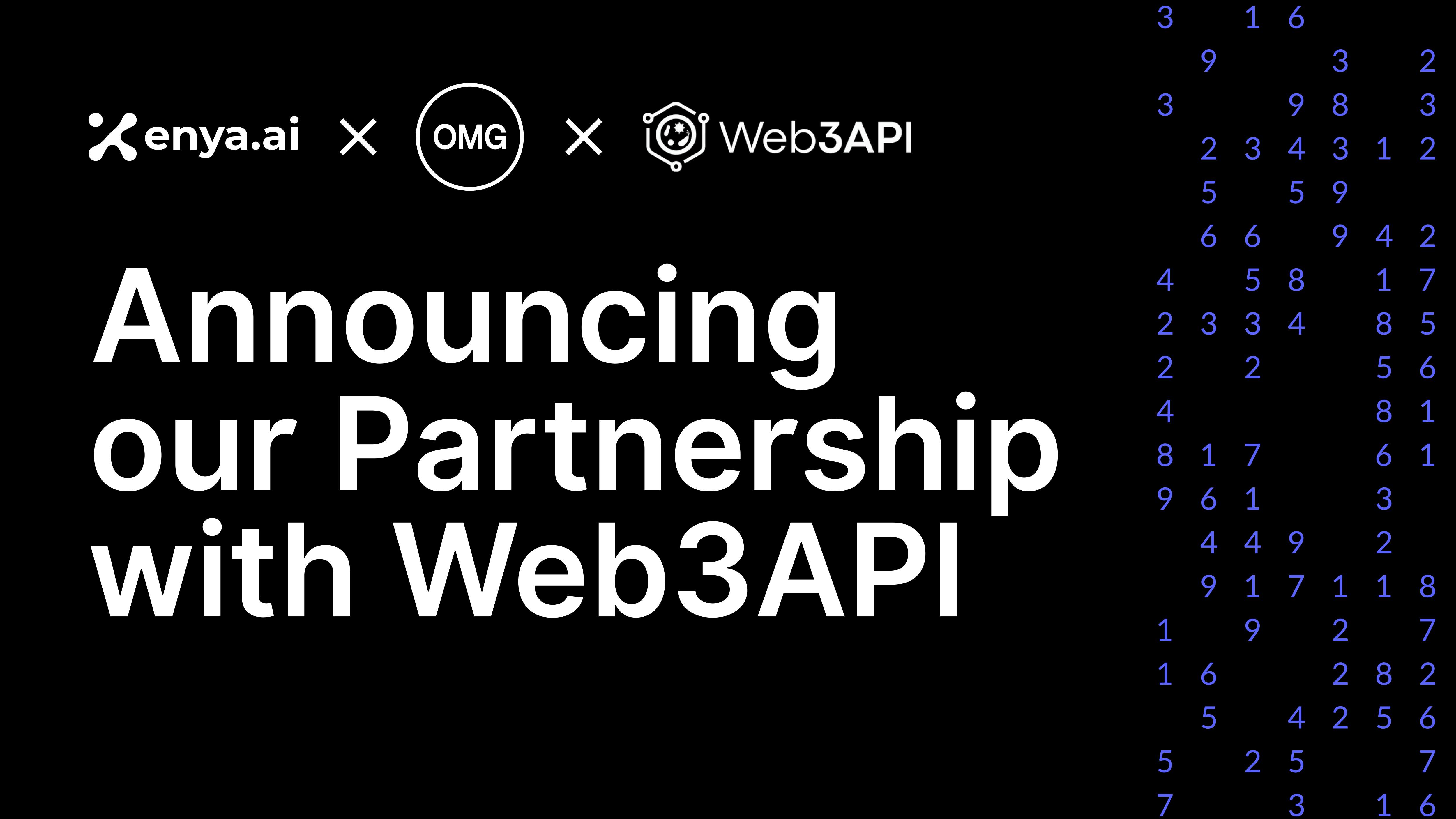 Enya and OMG Network Announce Partnership With Web3API