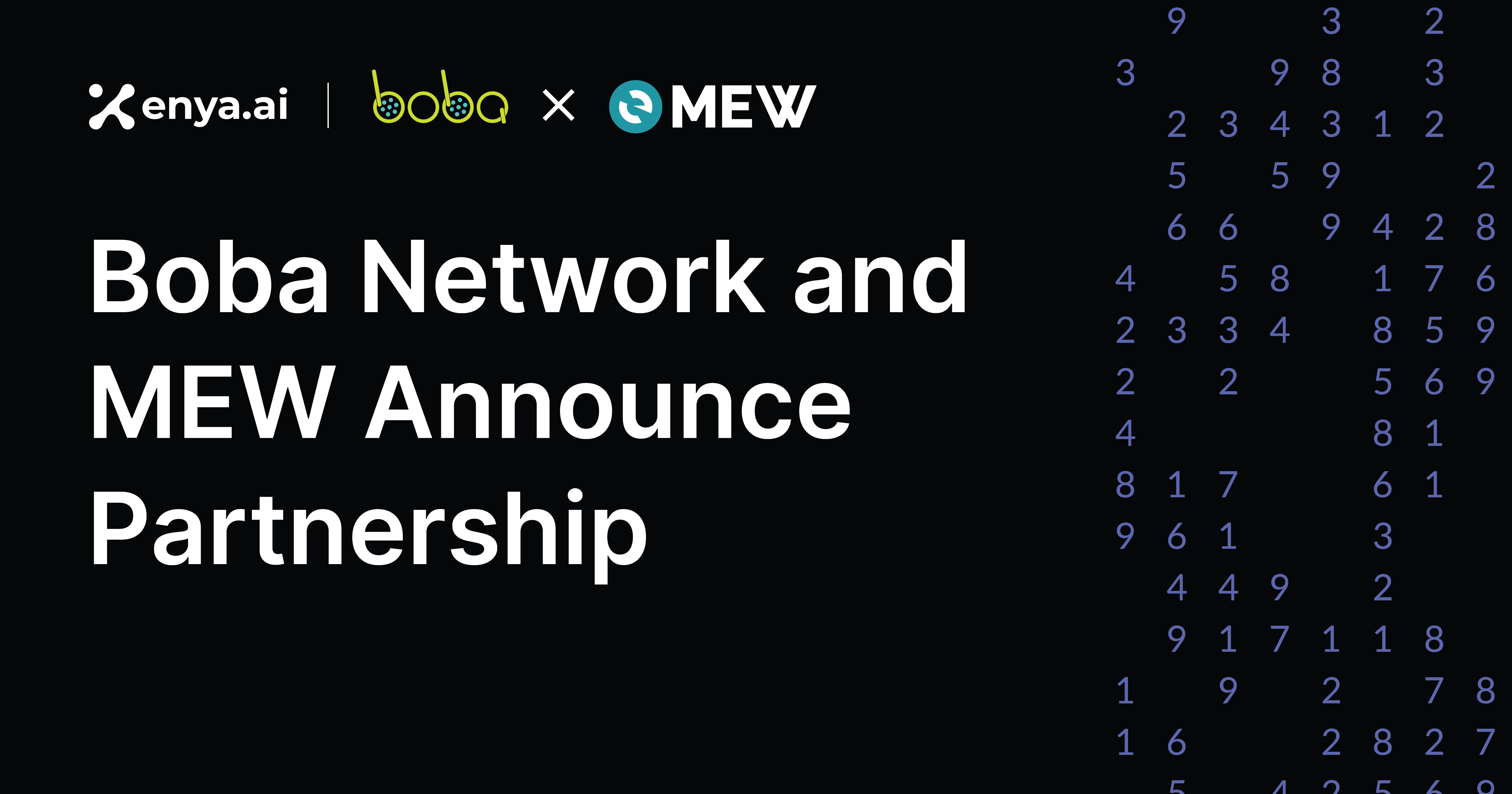 Boba Network Partners with MEW