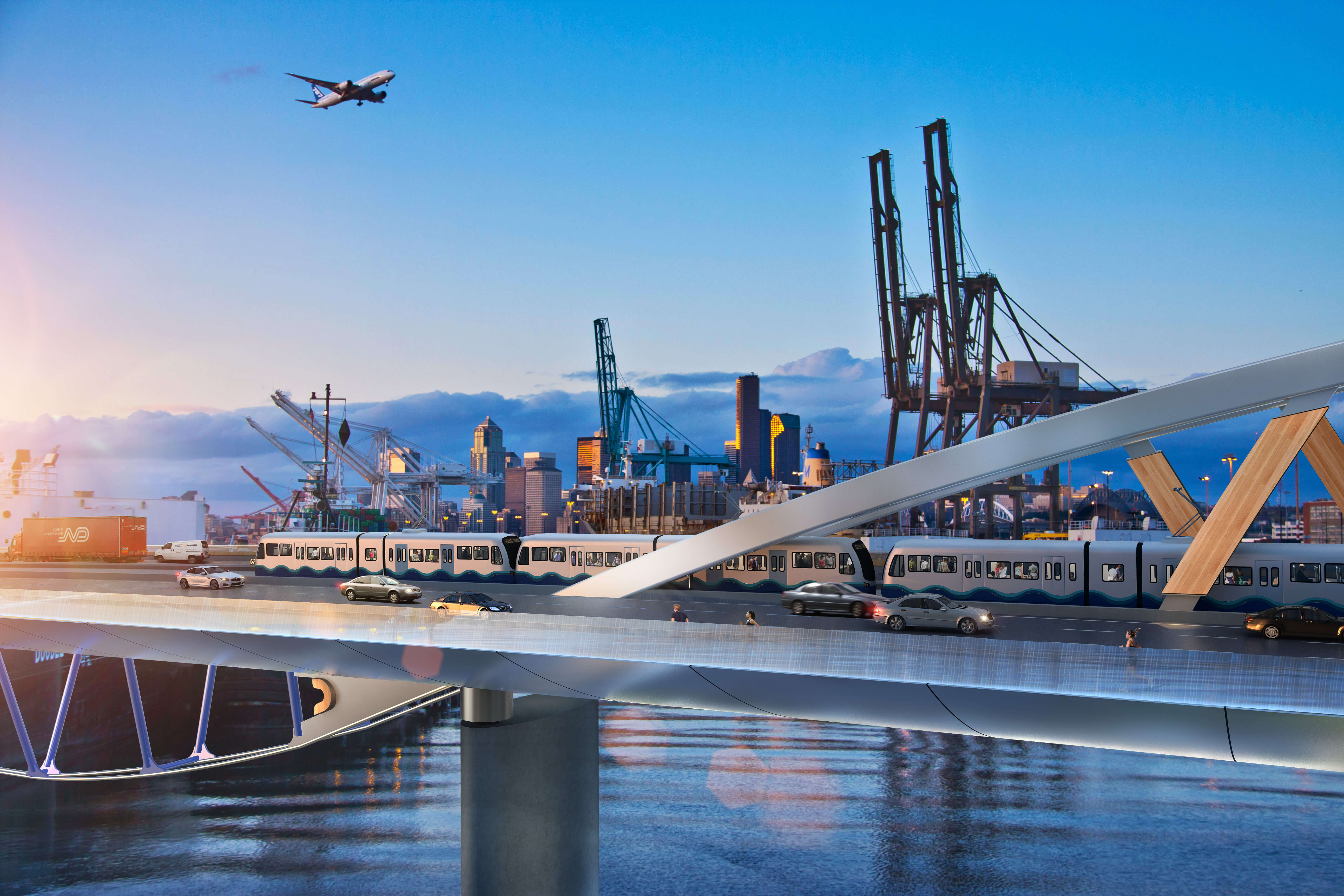 First-of-its-Kind Timber-Steel Hybrid Bridge Proposed for West Seattle