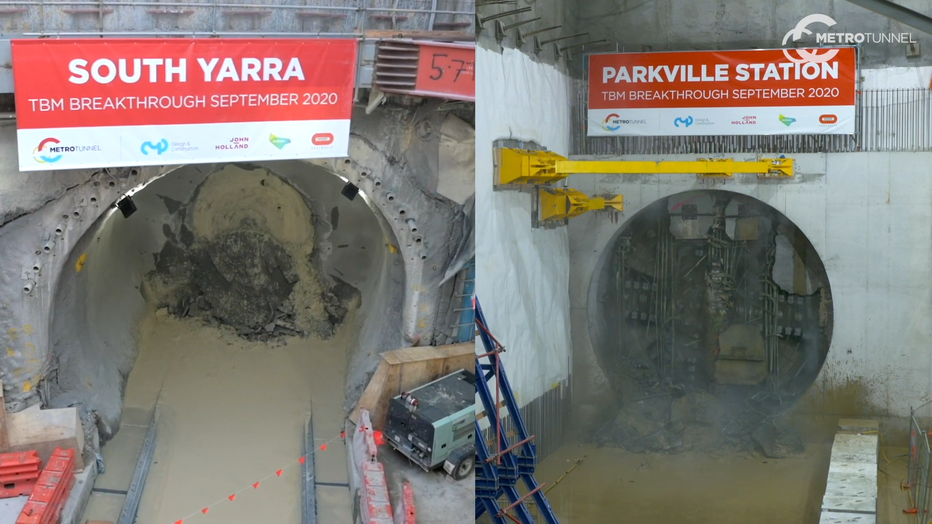 WATCH: Melbourne Metro Tunnelling Reaches Halfway Mark with Two TBM Break-Throughs within 24 Hours