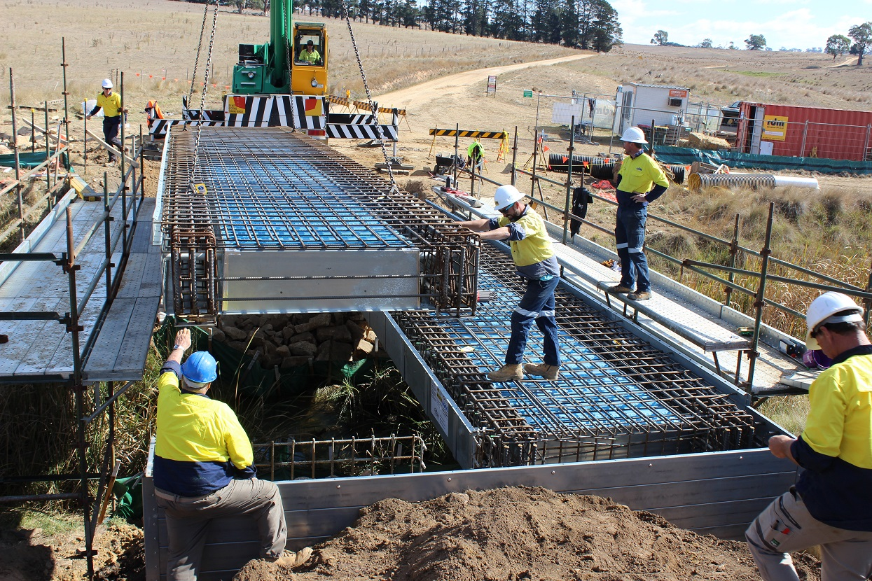 Bushfire-Destroyed Bridges Reconstructed in as Little as 2 Days using Innovative Formwork System