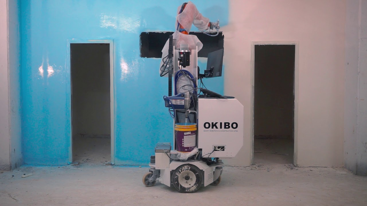 A.I. Robot can Plaster, Render and Paint Autonomously